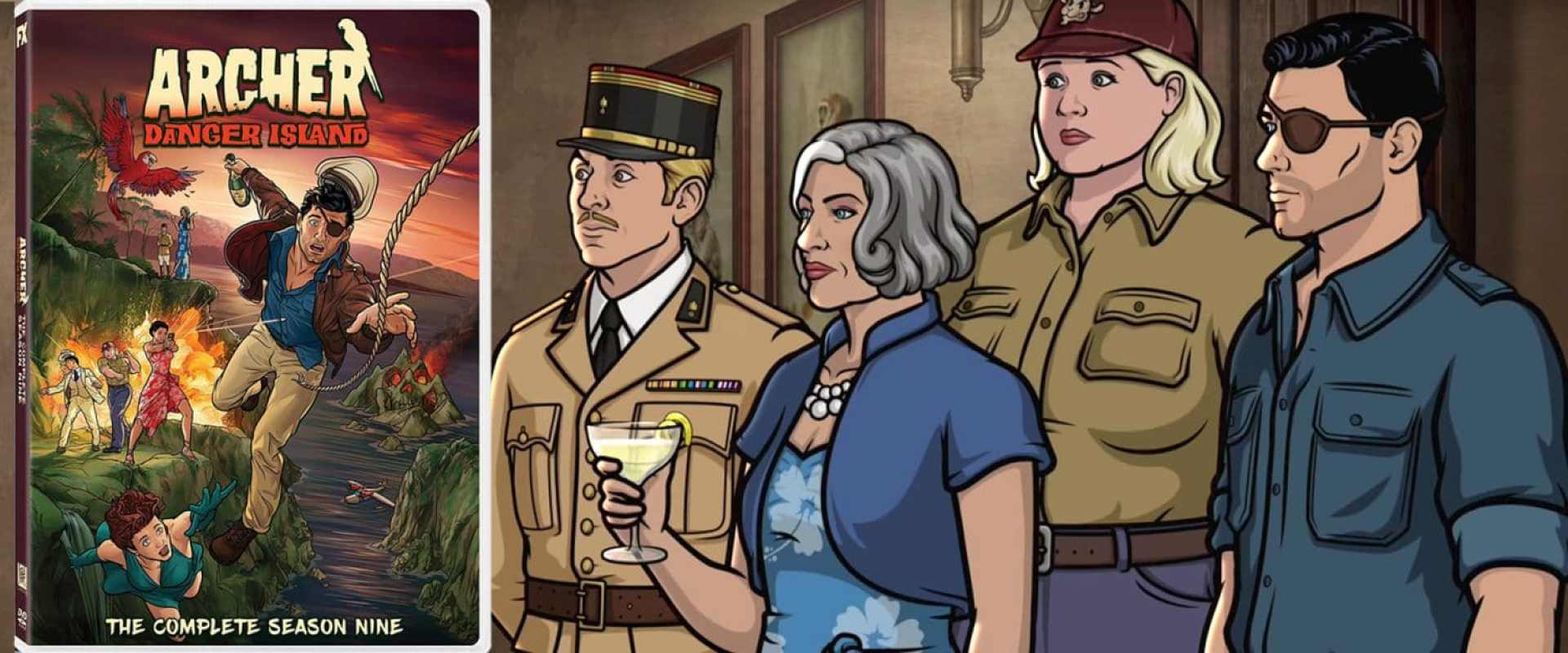 Thrills continue on Archer: Danger Island, now available on DVD.