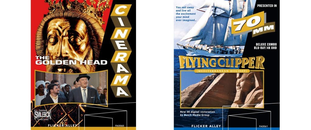 Flicker Alley brings to Blu-ray and DVD two Cinerama titles, Yankee Clipper and The Golden Head.