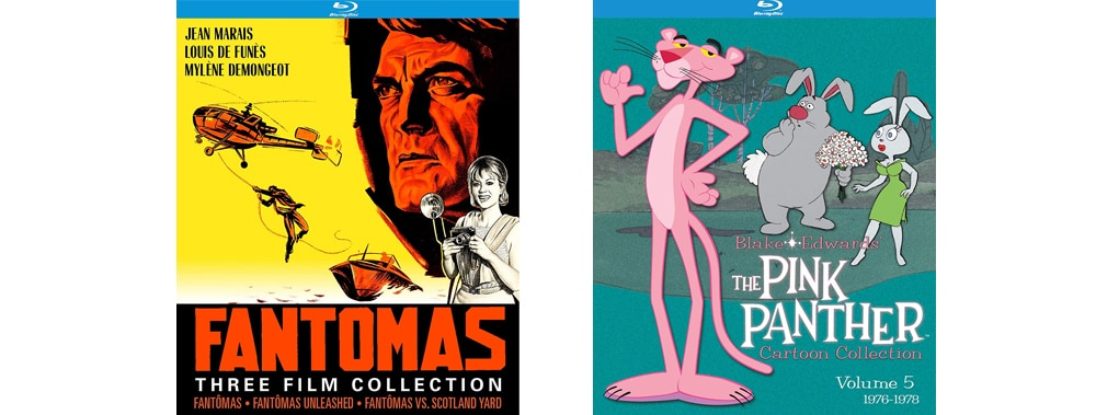 Fantomas and The Pink Panther Volume Five both come to Blu-ray this week through Kino Lorber.