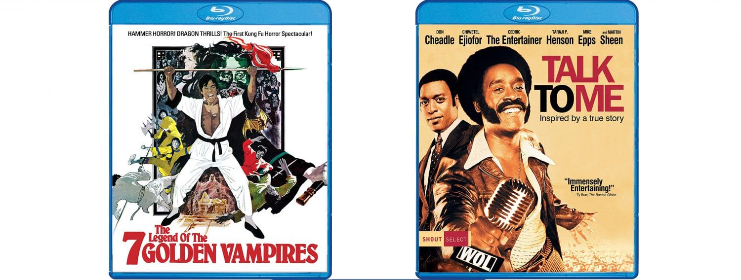 The Legend of the 7 Golden Vampires and Talk To Me both come to blu-ray this week through Shout! Factory.