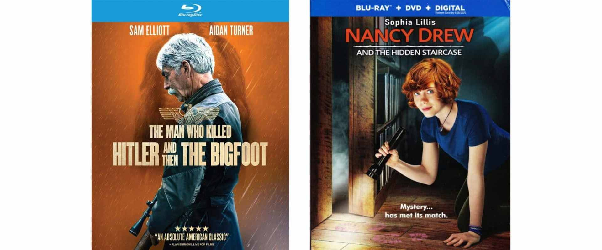 Nancy Drew and the Hidden Staircase and The Man Who Killed Hitler and then Bigfoot come to blu-ray this week.