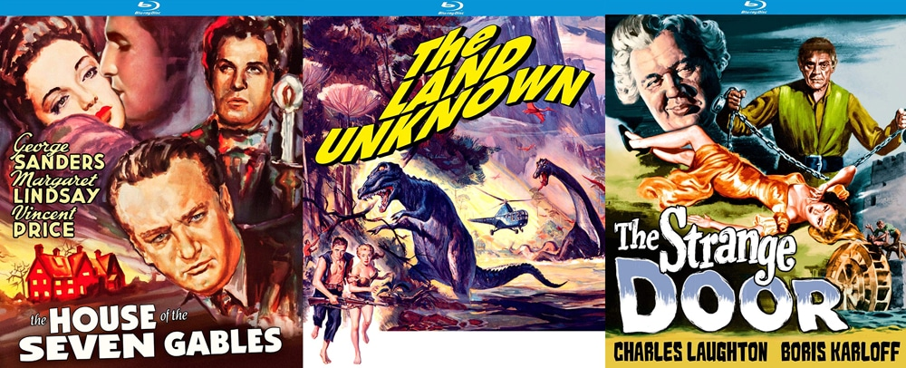 Look for The Land Unknown, House of Seven Gables and The Strange Door to make their blu-ray debuts this week.