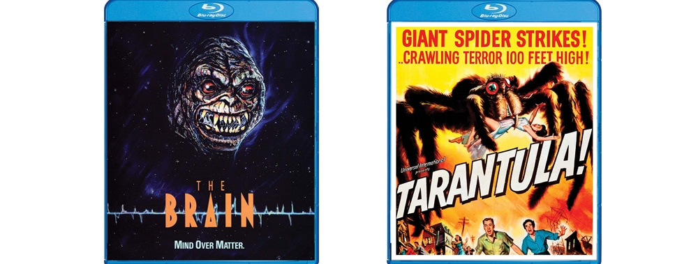 The Brain and Tarantual are both coming to Blu-ray this week through Scream Factory.