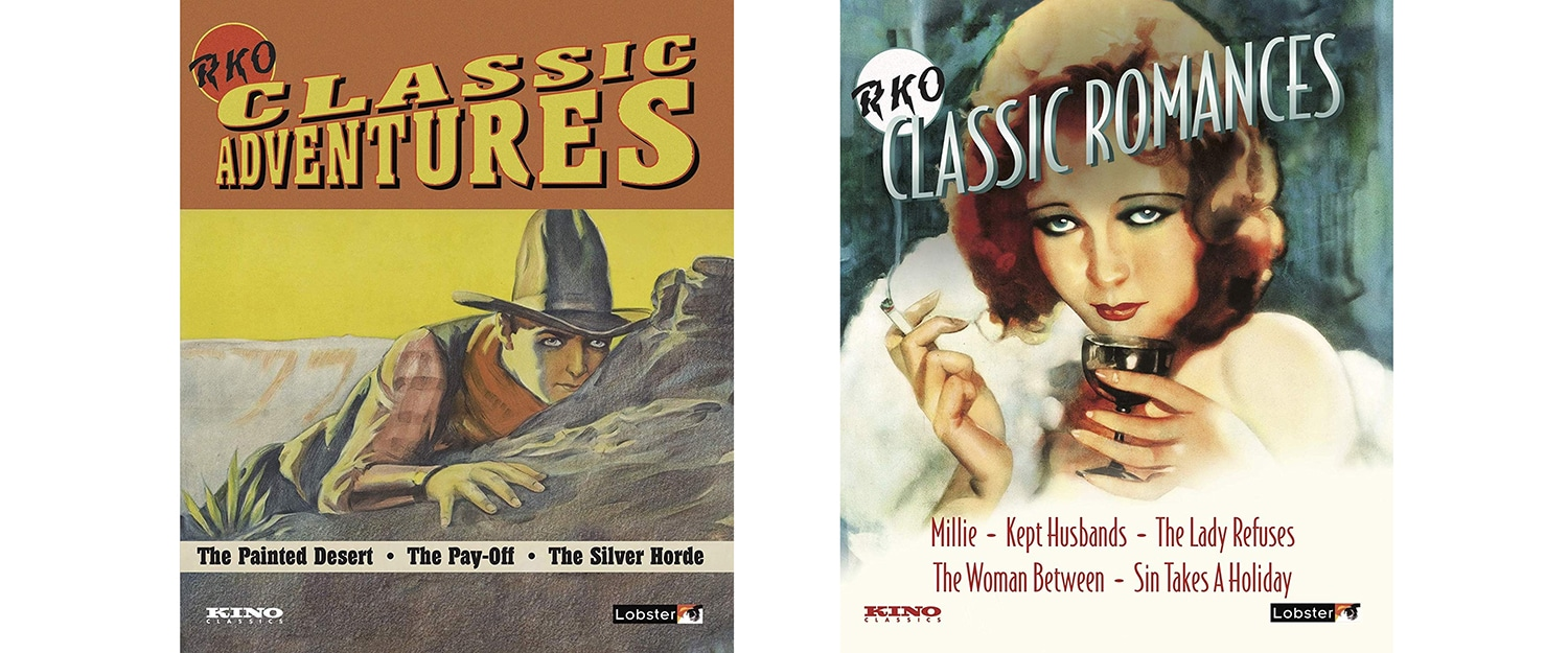 Look for two sets of RKO classics, Adventures and Romance, both hitting this week from Lobster Films and Kino.