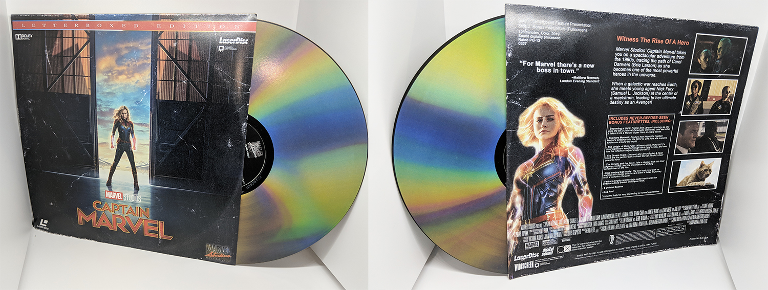 Check out Marvel Studios' Captain Marvel on Laserdisc!