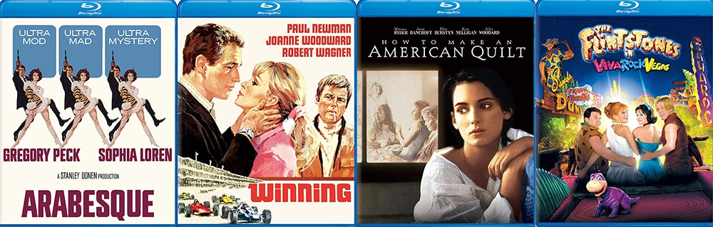 New universal catalogue titles hitting this week include Arabesque, Winning, How to Make an American Quilt and The Flintstones in Viva Rock Vegas.