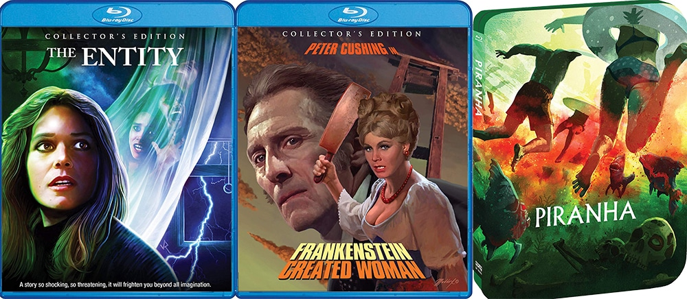 From Scream Factory this week, we're getting The Entity, Frankenstein Created Woman and Piranha.