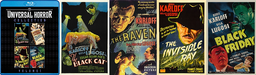 From Shout! Factory comes the first volume of Universal Horror, bringing to Blu-ray The Black Cat, Black Friday, The Raven and more!
