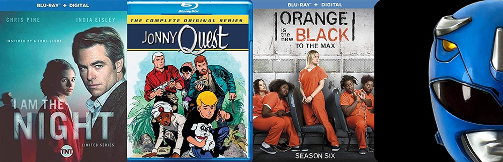 Small screen releases this week include Johnny Quest from Warner Archive, I am the Night, Orange is the New Black and the second season of Mighty Morphin Power Rangers.