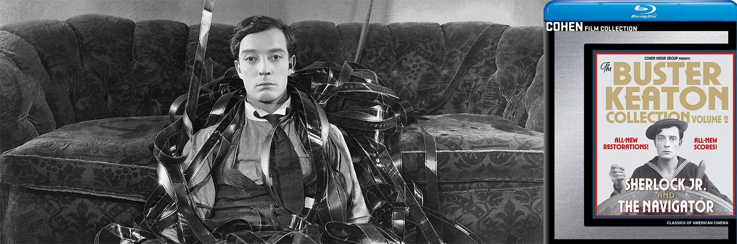 Two more Buster Keaton classics come to Blu-ray this week with The Navigator and Sherlock Jr.