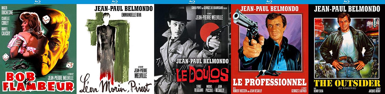From Kino Lorber Studio classics come Le Doulous 1962 Bob le Flambeur 1956 Le Professionel 1981 Leon Morin, Priest1961 and The Outside 1983.