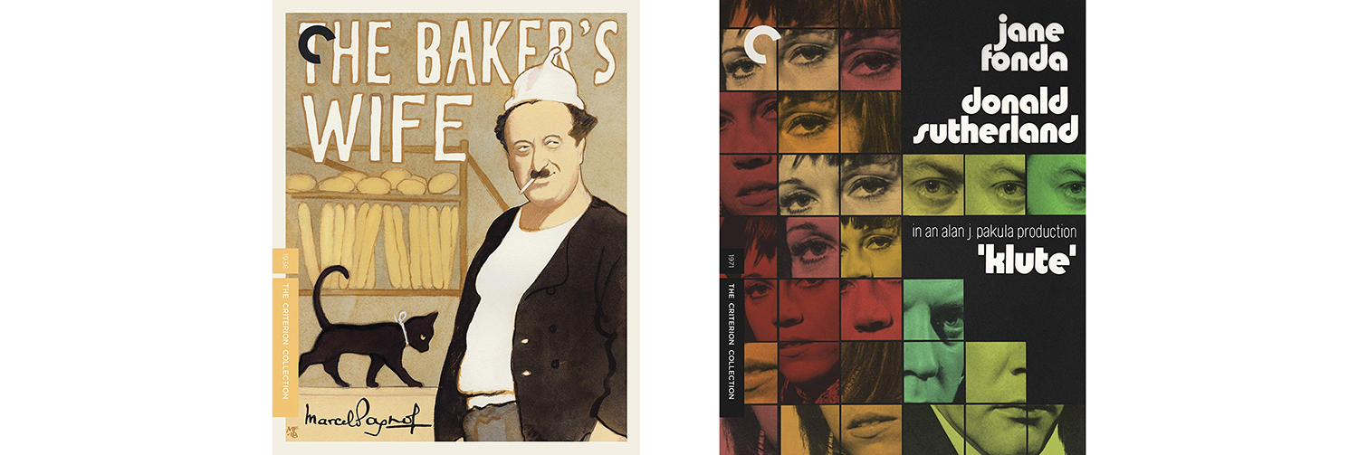 The Baker's Wife and Klute both join the Criterion Collection this week.