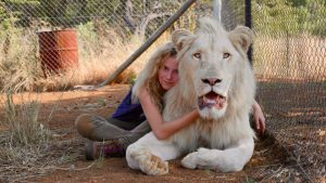 "Daniah De Villiers in ""Mia and the White Lion."" (Kevin Richardson/Studiocanal GmbH/TNS)"