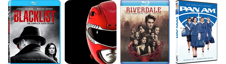 Look for Power Rangers season three, Riverdale season three, Blacklist season six and the complete Pan Am on DVd this week.