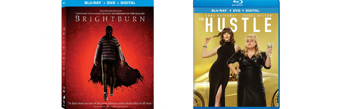 Brightburn and The hustle both hit DVD and BLu-ray this week.