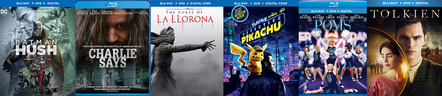 Detective Pikachu, Curse of La Llorona, Poms and more come to Blu-ray. this week.