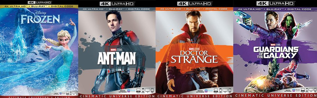 Coming to 4K Ultra HD this week is Ant-Man, Doctor Strange and Guardians of the Galaxy alongside the non Marvel movie, Frozen.