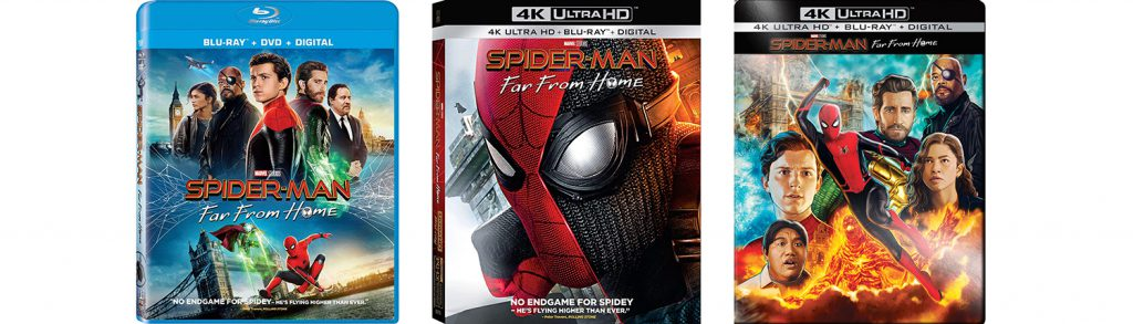 Spider-Man Far From Home comes home to Blu-ray, DVD and 4K Ultra HD, including as a Best Buy Exclusive steelbook.