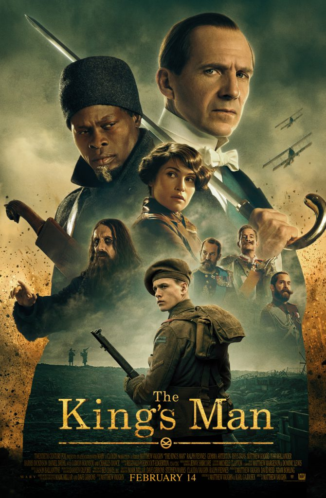 Take a look at the King's Man movie poster.