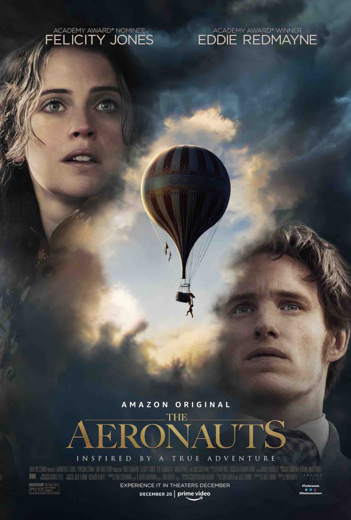 Take a look at the new Aeronauts movie poster for a look at the new movie starring Felicity Jones and Eddie Redmayne.