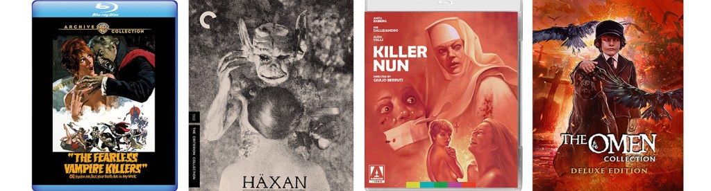 Just in time for Halloween, Haxan, Fearless Vampire Killers, Killer Nun and the entire The Omen series comes to blu-ray.