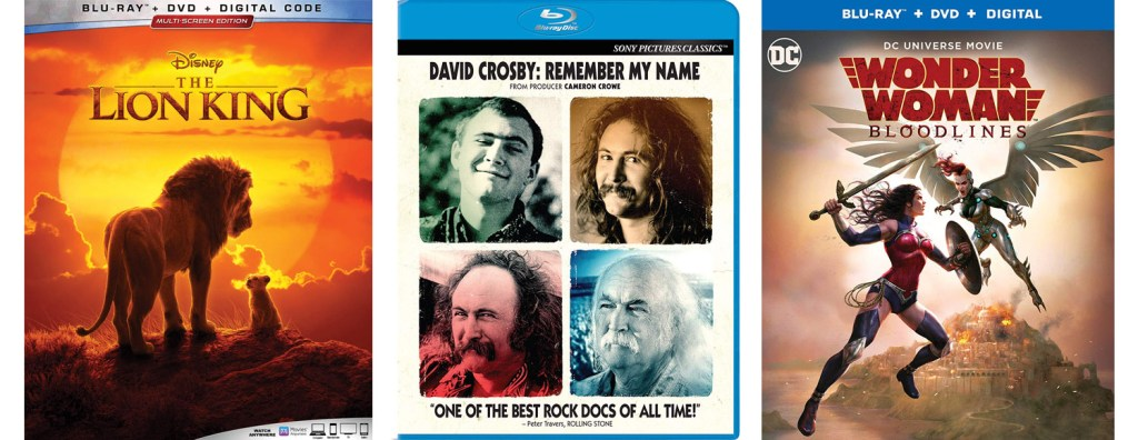 The Lion King, David Crosby: Remember My Name and Wonder Woman Bloodlines are all hitting Blu-ray and DVD this week.