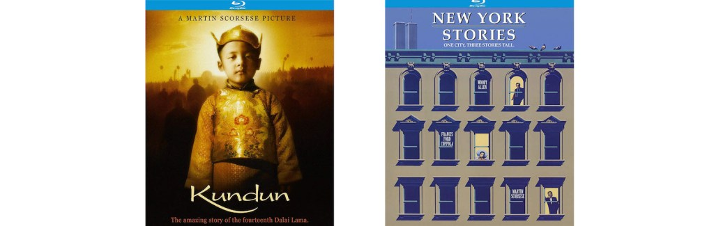 Both Kundun and New York Stories, directed by Martin Scorsese, are coming to Blu-ray this week from Kino Lorber.