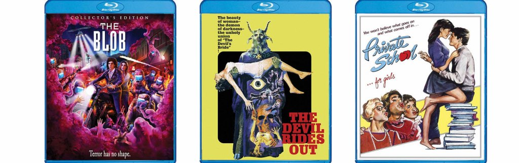 The Blob, The Devil Rides Out and Private School all come to Blu-ray this week via Scream Factory.