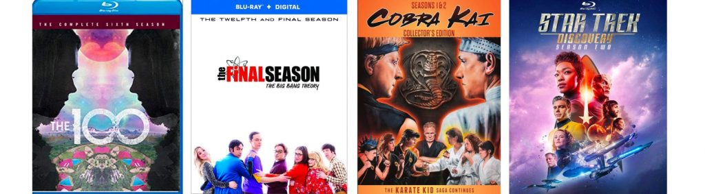 Star Trek Discovery, Cobra Kai, The Big Bang Theory and The 100 all come to DVD and BLu-ray this week.