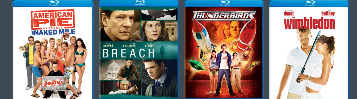 Universal has a new selection of MOD Blu-ray titles arriving this week, including Breach, Thunderbirds, Wimbeldon and more!