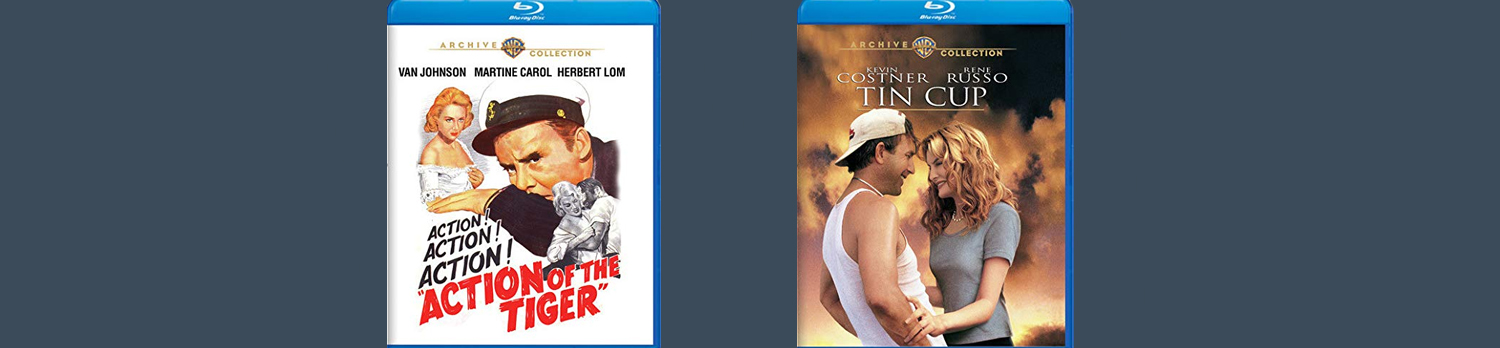Warner Archive this week releases both Action of the Tiger and Tin Cup on blu-ray.