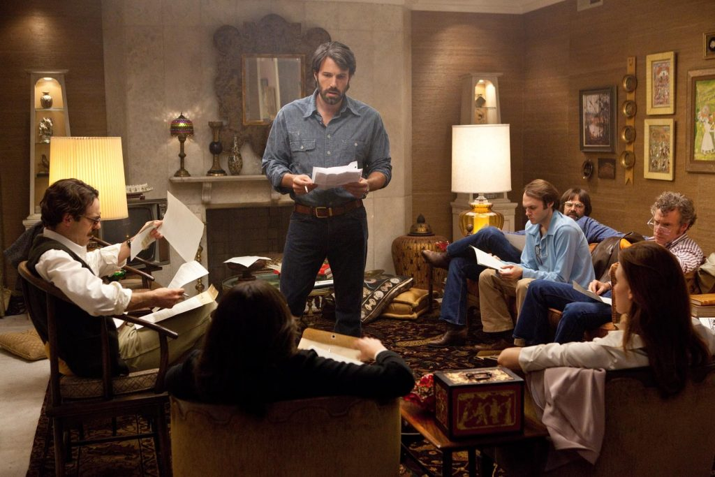 I think there's more dialogue in that script for Argo that they're all holding than in Argo itself