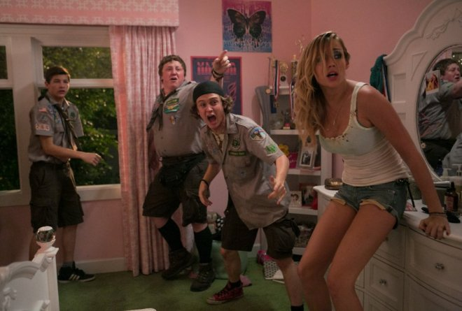 Logan Miller, Sarah Dumont, Tye Sheridan and Joey Morgan. Copyright: Jaimie Trueblood and Paramount Pictures.