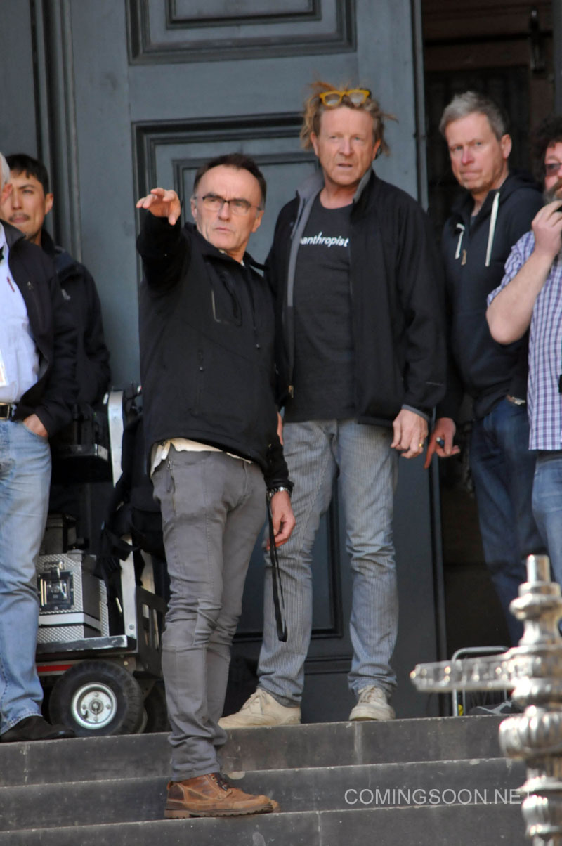 Trainspotting 2 filming in Edinburgh with director Danny Boyle and actor Jonny Lee Miller sporting bleached blonde hair Featuring: Danny Boyle Where: Scotland, United Kingdom When: 13 May 2016 Credit: WENN.com