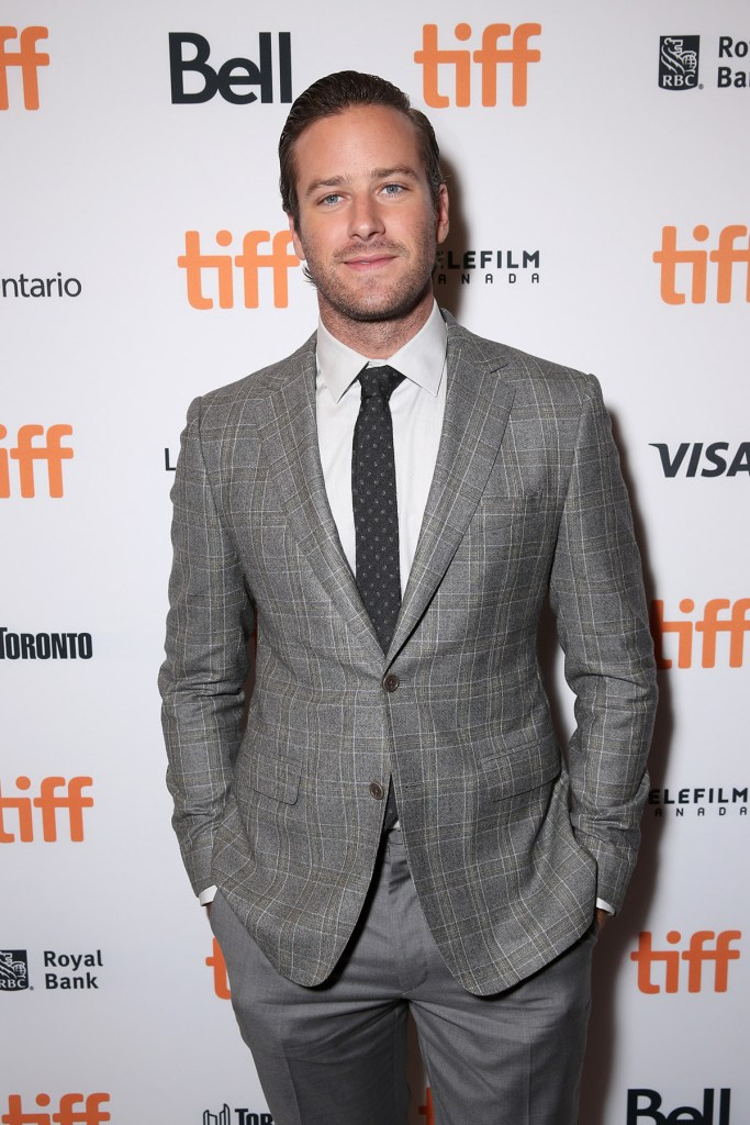 """TORONTO, ON - SEPTEMBER 09: Actor Armie Hammer attends Fox Searchlight's """"The Birth of a Nation"""" special presentation during the 2016 Toronto International Film Festival at Winter Garden Theatre on September 9, 2016 in Toronto, Canada. (Photo by Todd Williamson/Getty Images for Fox Searchlight)"""