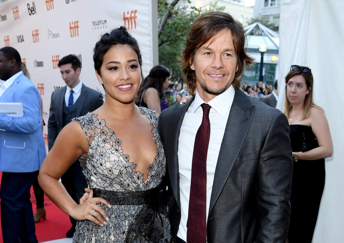 "TORONTO, ON - SEPTEMBER 13:  Actors Gina Rodriguez (L) and Mark Wahlberg attend the ""Deepwater Horizon"" premiere during the 2016 Toronto International Film Festival at Roy Thomson Hall on September 13, 2016 in Toronto, Canada.  (Photo by George Pimentel/WireImage)"