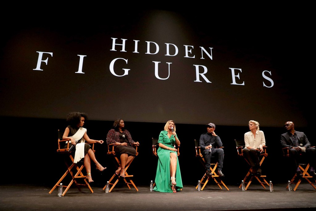 Janelle Monae, Octavia Spencer, Taraji P. Henson and Producers Pharrell Williams and Jenno Topping seen at Twentieth Century Fox HIDDEN FIGURES LIVE at the 2016 Toronto International Film Festival on Saturday, Sept. 10, 2016, in Toronto. (Photo by Eric Charbonneau/Invision for Twentieth Century Fox/AP Images)
