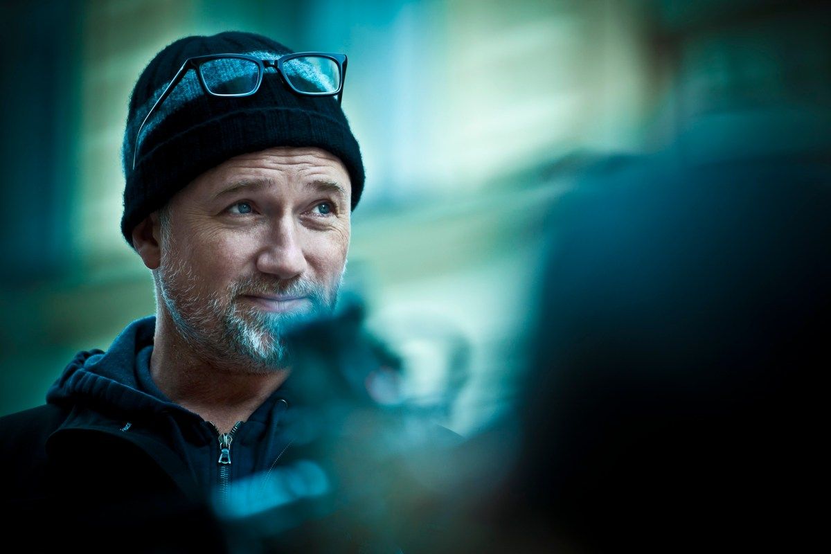 "Director David Fincher on the set of Columbia Pictures' ""The Girl With The Dragon Tattoo,"" starring Rooney Mara and Daniel Craig."