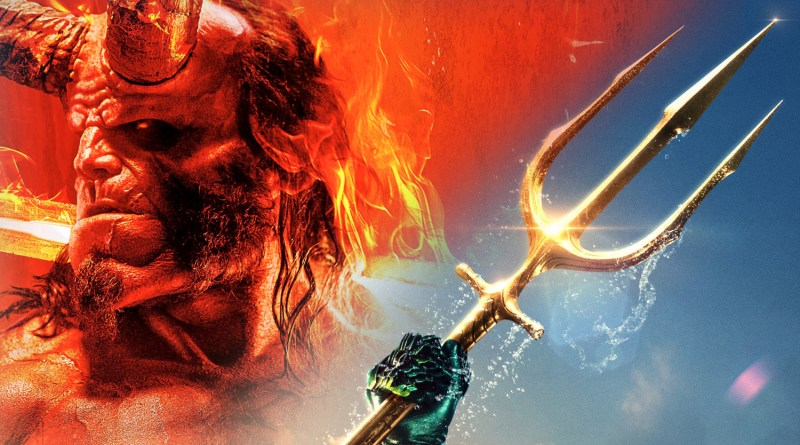 New Movie Posters: Aquaman Goes Old School & Hellboy is All-New and All-Badass