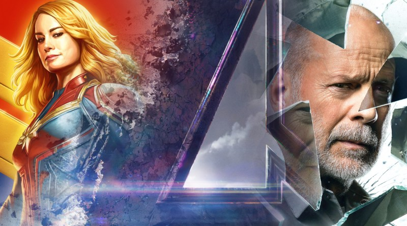 New Movie Posters: Captain Marvel, Avengers: Endgame and Glass