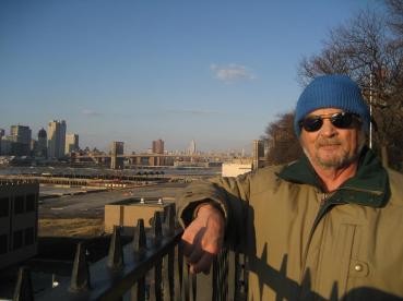 Dad visiting me in Brooklyn circa 2009.