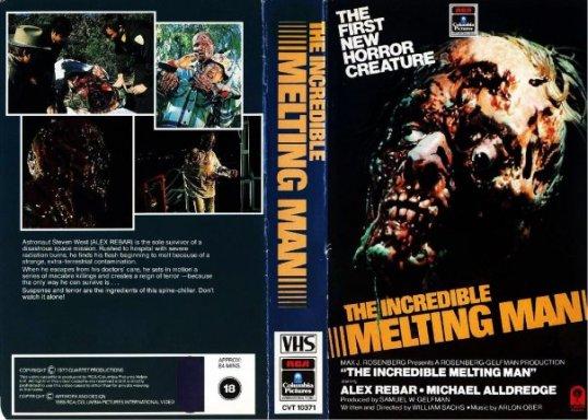 incredible melting man RCA Columbia UK VHS sleeve