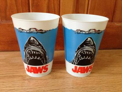 Jaws cups movie tie-in