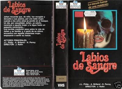 labios de sangre lips of blood VHS sleeve