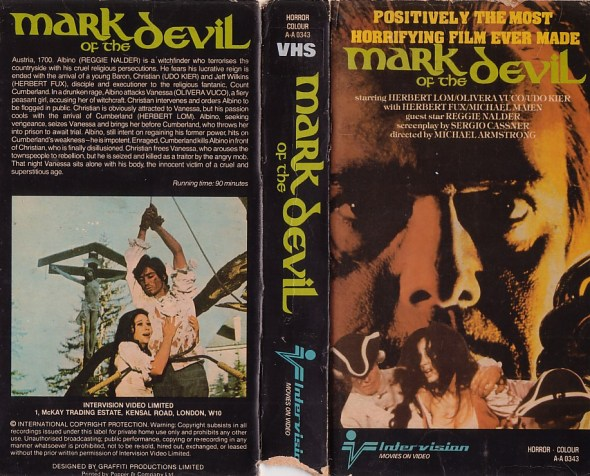 MARK OF THE DEVIL UK VHS PRE CERT