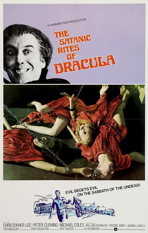 satanic rites of dracula warner bros poster