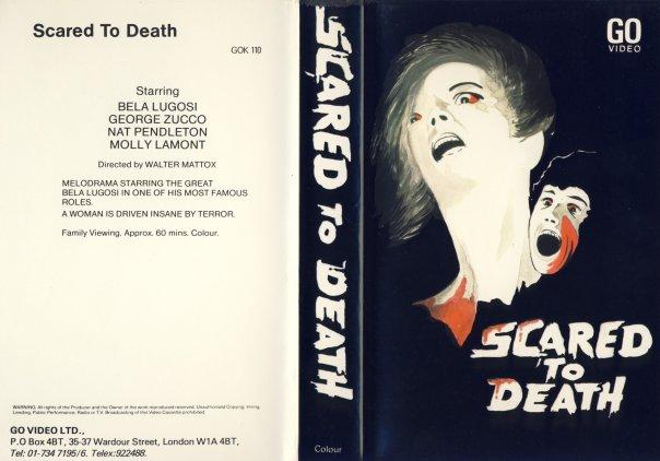 scared to death 1947 bela lugosi UK VHS sleeve
