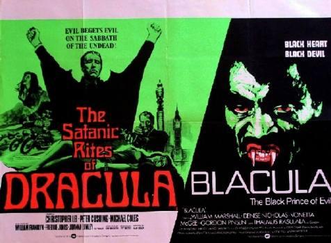 the satanic rites of dracula + blacula double-bill poster