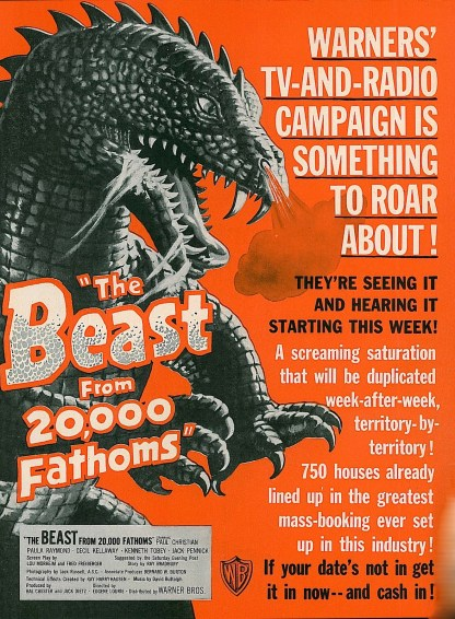 Beast-from-20000-Fathoms-1953-TV-radio-campaign-poster