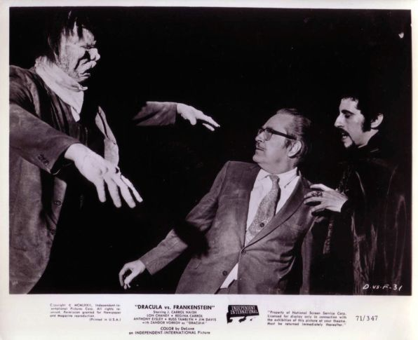 dracula vs. frankenstein forrest j ackerman is attacked